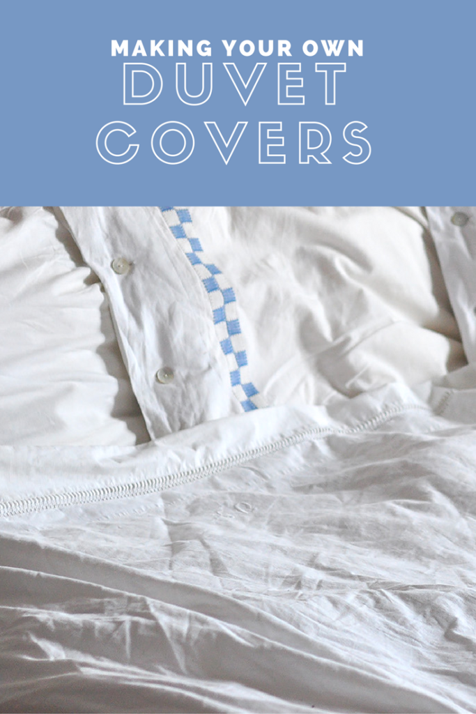 how to make your own DIY duvet covers