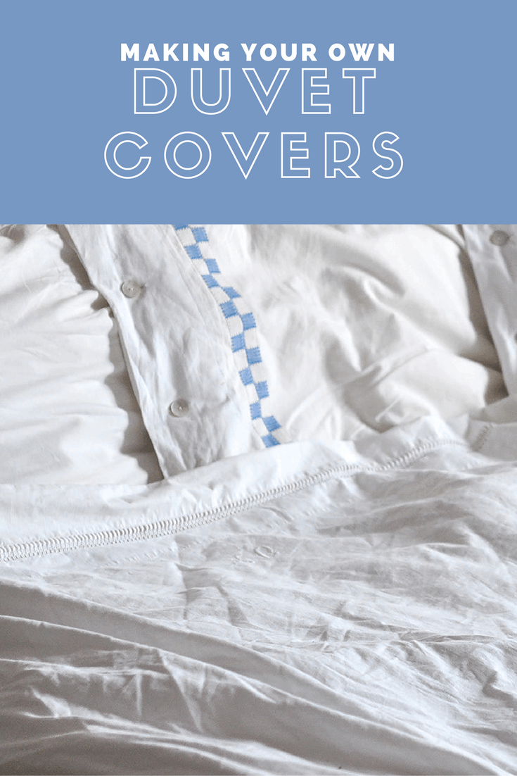 Fabric Book Covers Make Your Own ~ How to make diy duvet covers a tutorial last stitch