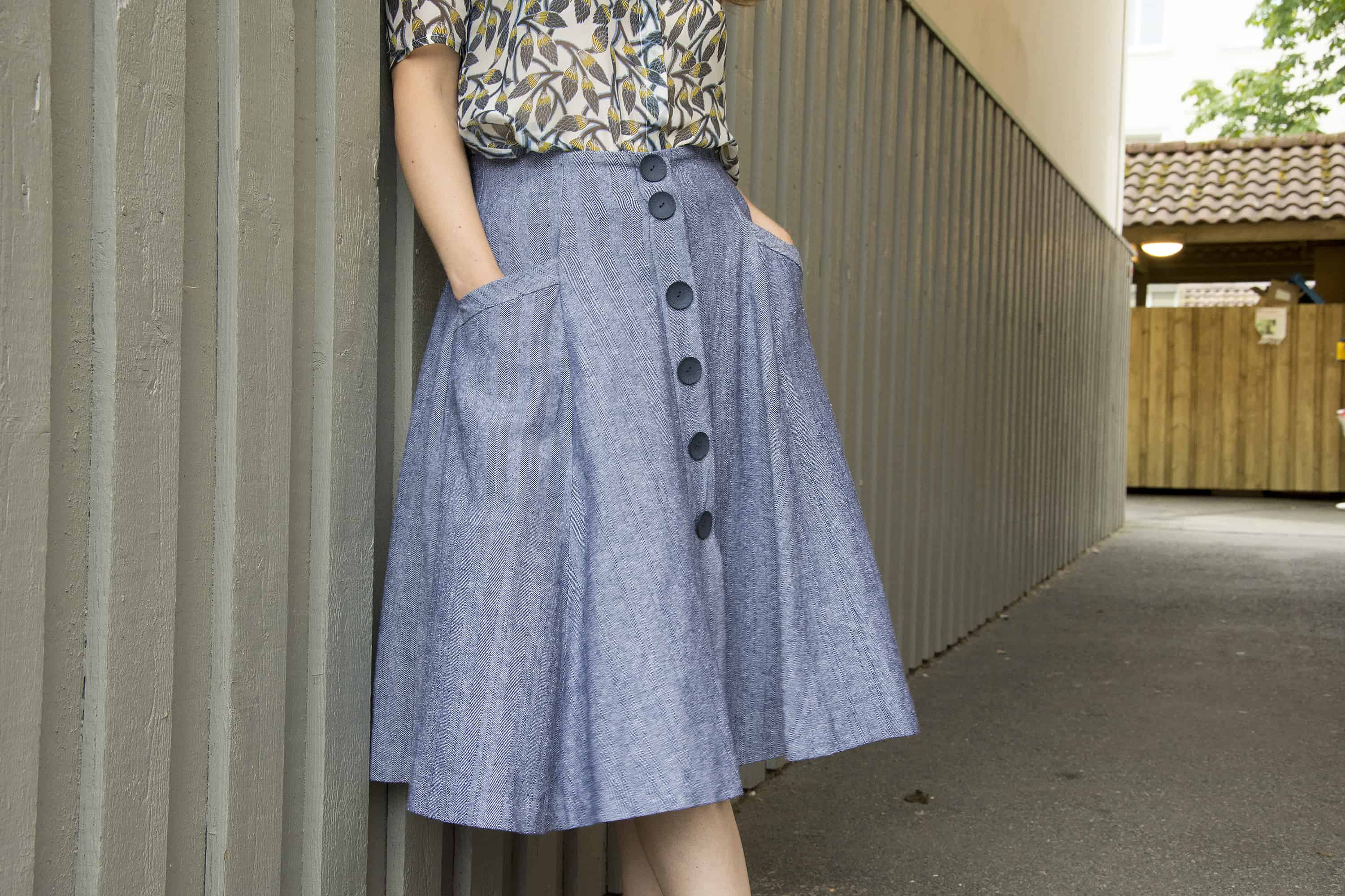 A new favorite: Burdastyle button front skirt - The Last ...