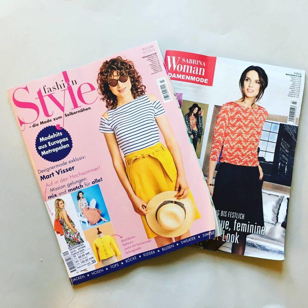 Knip Mode Fashion Style Sabrina Pattern magazines
