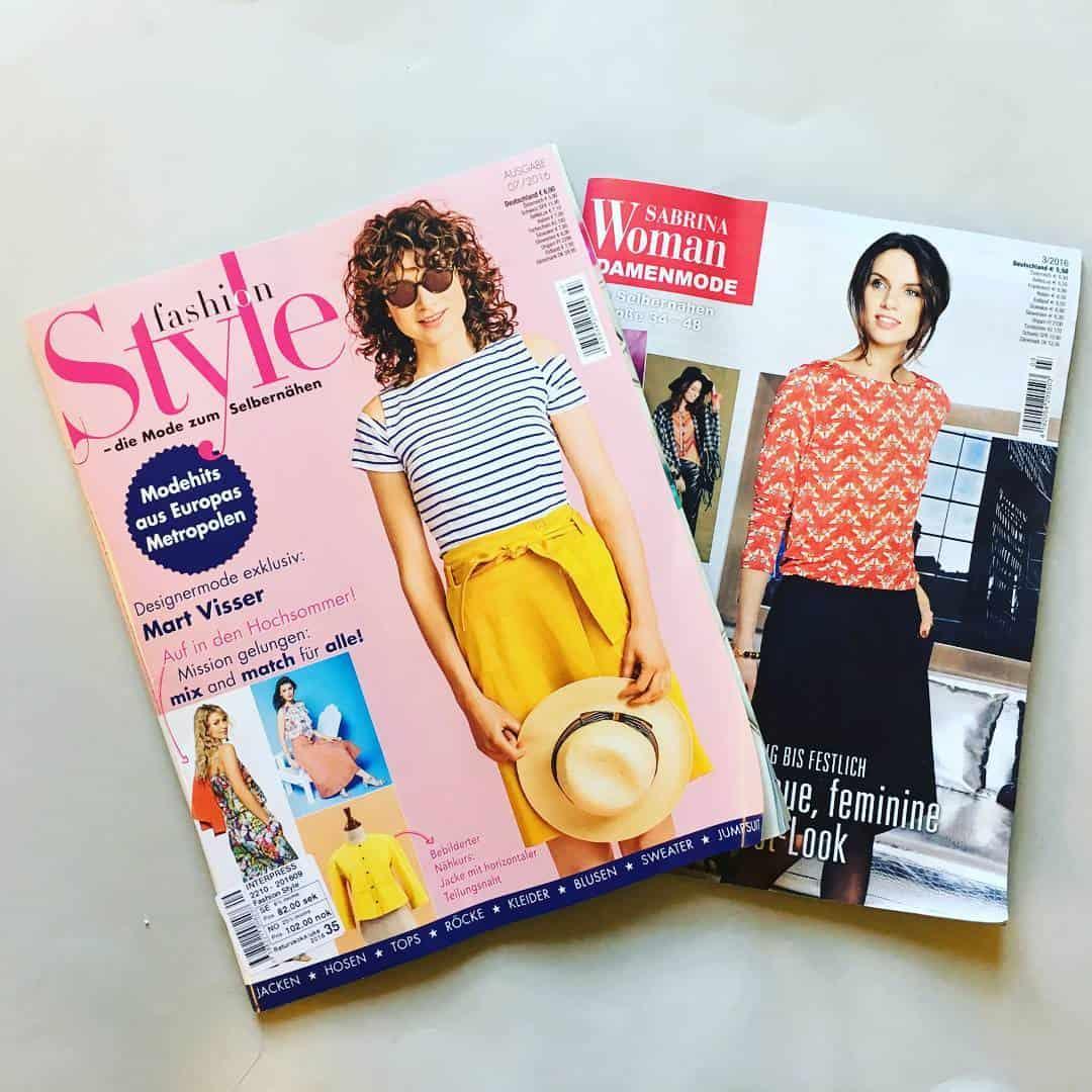 Fashion Style (Knip Mode) and Sabrina pattern magazines ...