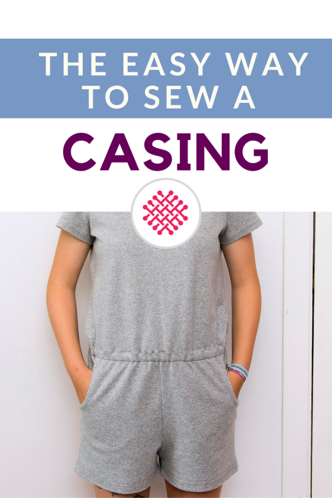Easy way to sew a casing