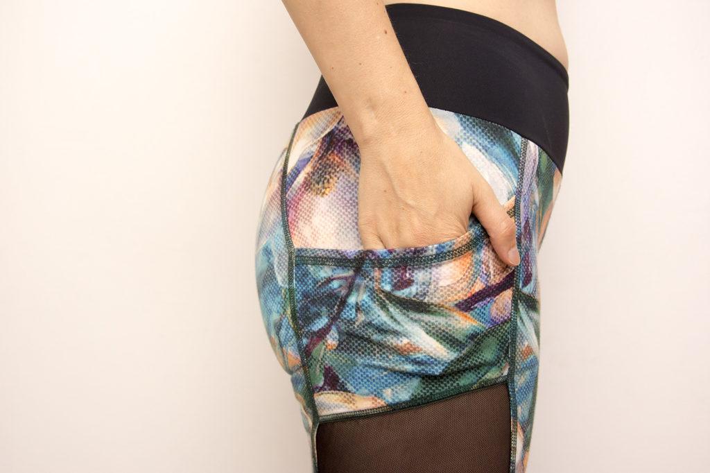 Floweprint mesh leggings