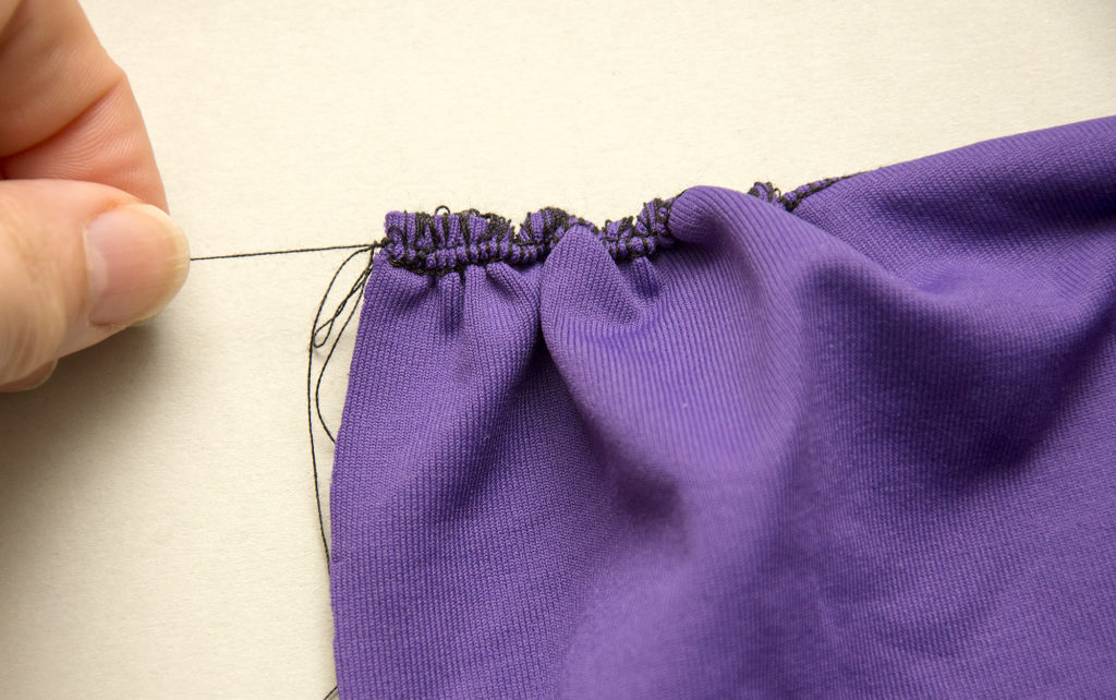 How to sew gathers on a serger