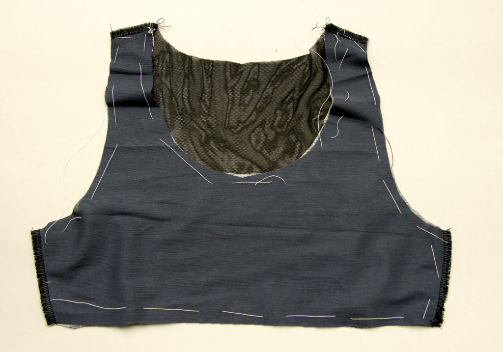 Lining a sportsbra with powermesh