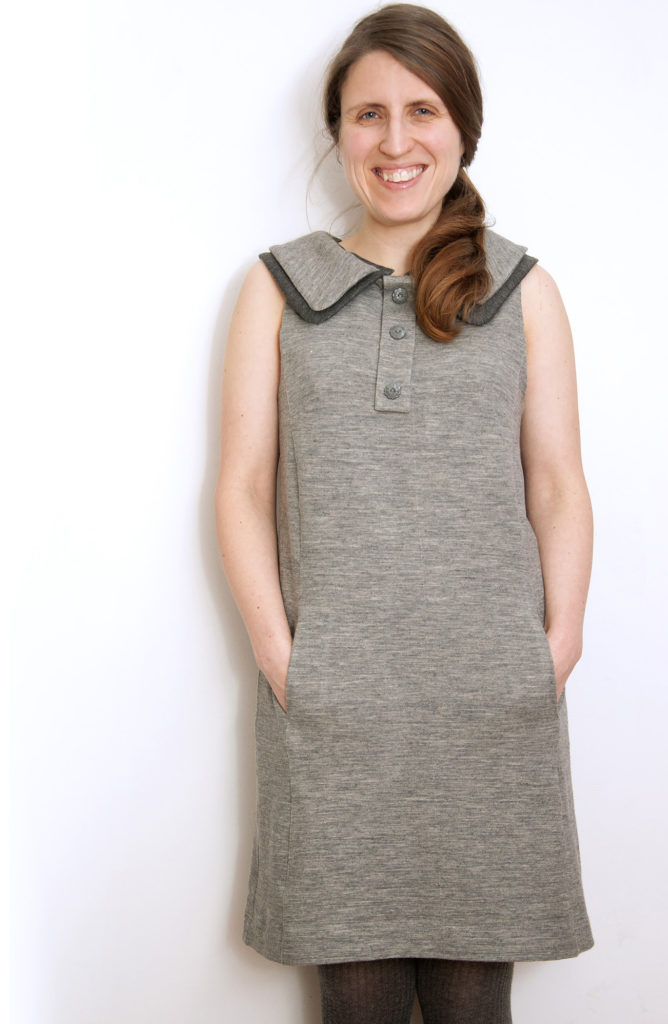 Burdastyle sheath dress with double collar