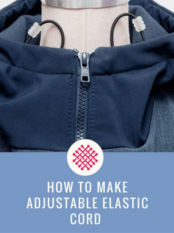 how to make adjustable elastic cord drawstrings with stoppers Sewing Activewear