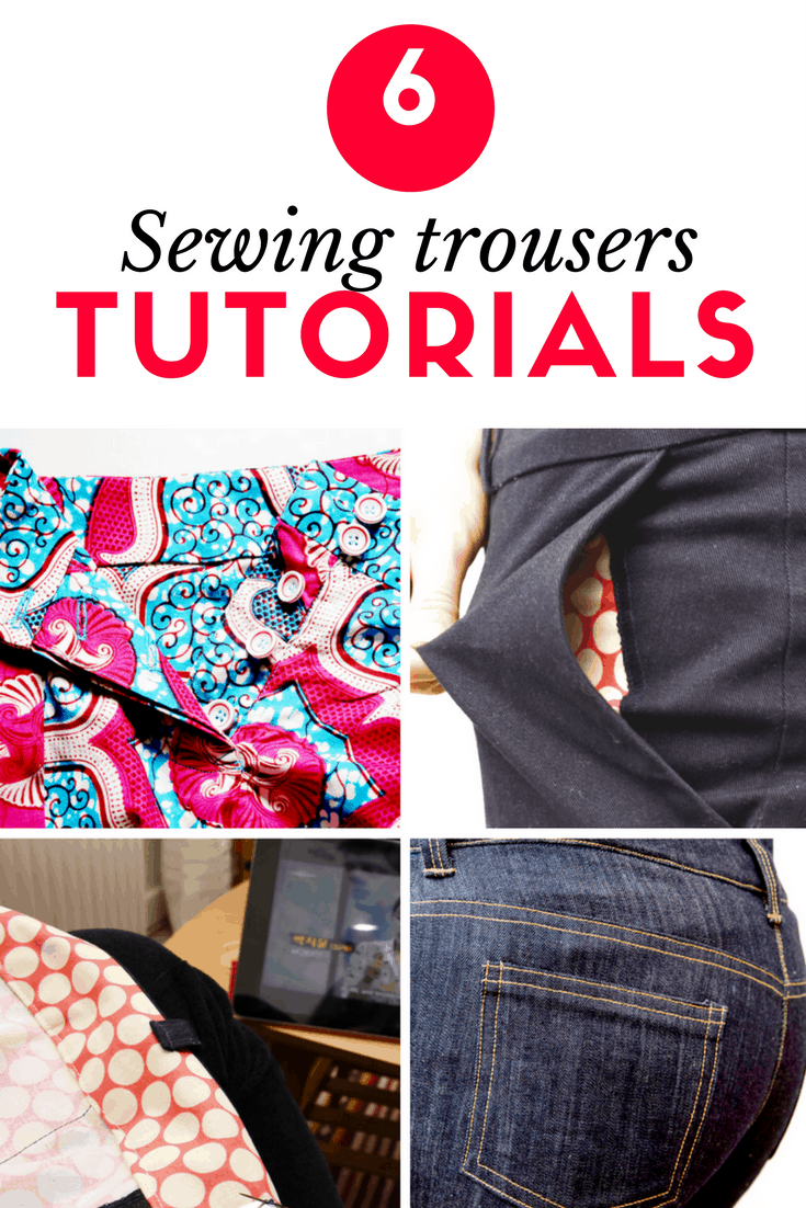 Sewing trousers pants how to tutorials
