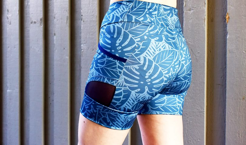 Spoonflower sports fabric shorts