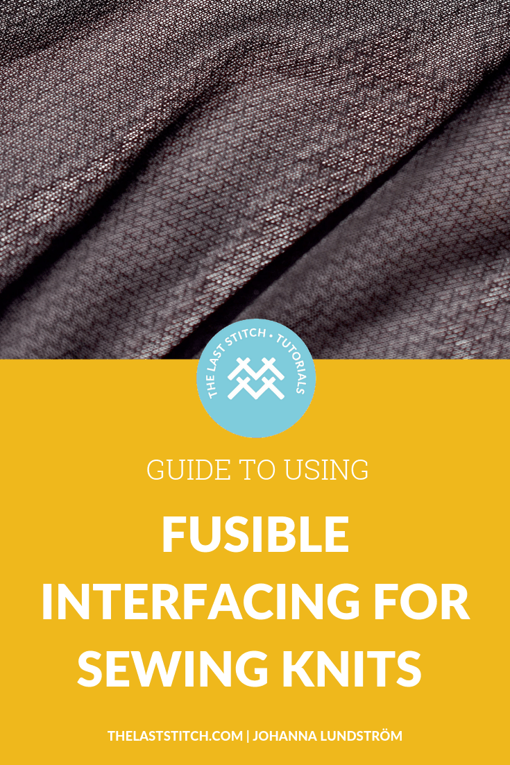 Using iron-on fusible stretch interfacing for knit fabrics is a great way to add structure and stability to your knit garments. Here is a guide to the most common types and how to use them.