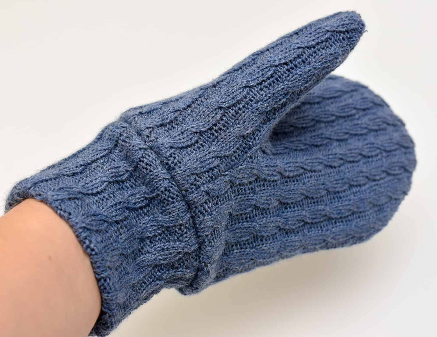 How to lining on mittens