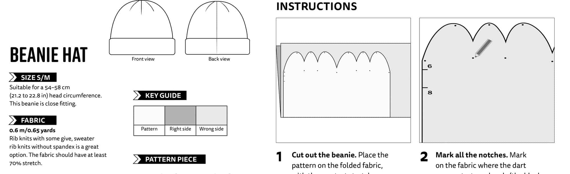Beanie Sewing Pattern Simple Inspiration