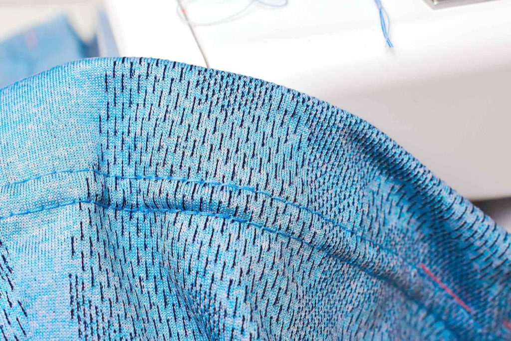 How to secure a coverstitch seam